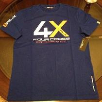 Ralph Lauren Rlx Mens T-Shirt Mountain Bike 4 Cross Blue Size Medium New W Tags Photo