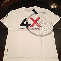 Ralph Lauren Rlx Mens T-Shirt Mountain Bike 4x White Sz Medium New With Tags Photo