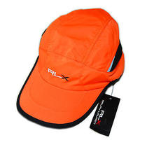 Ralph Lauren Rlx Mens Women Polo Cycle Bike Running Hat Fluorescent Orange Black Photo