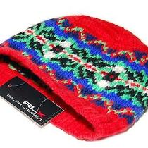 Ralph Lauren Rlx Mens Womens Merino Wool Ski Skull Knit Hat Cap Red Blue Green Photo