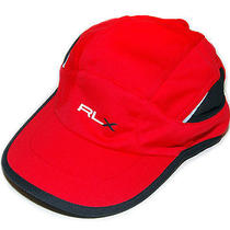 Ralph Lauren Rlx Mens Womens Polo Cycle Bike Running Marathon Hat Cap Red Black Photo