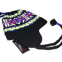 Ralph Lauren Rlx Mens Womens Wool Ski Skull Knit Hat Cap Black Yellow Blue Red Photo