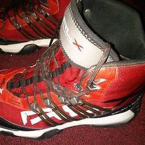 Ralph Lauren Rlx Nylon Boots (Size 10) Red & Blk. Stylish High-End Christmas Photo