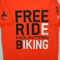 Ralph Lauren Rlx Orange Mountain Free Ride Biking Shirt L Large 48 Nwt Macys Photo