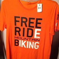Ralph Lauren Rlx T-Shirt Med Free Ride Mountain Biking Orange Nwt Msrp 45 Mens Photo