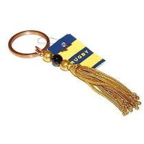 Ralph Lauren Rugby Mens Womens Vintage Rare Gold Bead Tassle Key Ring Chain Photo