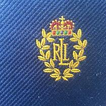 Ralph Lauren Signed Logo Tie in Navy Blue Photo