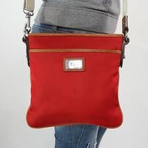Ralph Lauren Small Red Tan Shoulder Hobo Tote Satchel Cross Body Purse Bag Photo