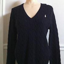 Ralph Lauren Sport Cable Knit v Neck Sweater-Bnwt Photo