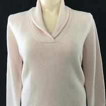 Ralph Lauren Sweater Xlarge 100% Wool Shawl Collar Pastel Blush Pink Cozy Warm Photo