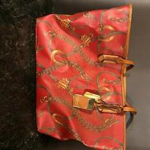 Ralph Lauren Tote Bag Excellent Condition Red and Gold Pattern Photo