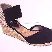 Ralph Lauren Women Charla Wedge Espadrille Heel Shoe Black 8 Photo