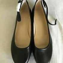 Ralph Lauren Women's Black Leather Kristi Ballet Flats Ankle Strap Size 8.5 M  Photo