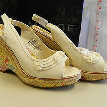 Rampage 9.5 M New Womens Blanket Natural Wedge Sandals Shoes Photo