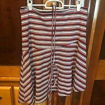 Rampage Asymmetrical Striped Skirt Size Medium Photo