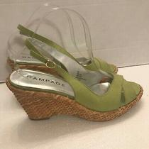 Rampage Barcelona Green Wicker Wedge Sandals Womens Size 8.5 M Photo