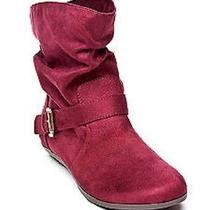 Rampage Bielson Wine Faux Suede Boot 7.5m - Msrp 59 Photo