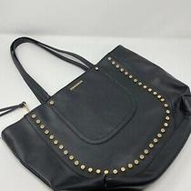 Rampage Black Gold Studded Large Purse Read Photo