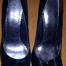 Rampage Black Patent Leather High Heels Peep Toe Sz 9 Medium Photo