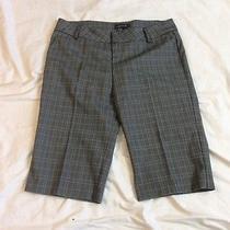 Rampage Black Plaid Capri Pants Size 11 Photo