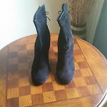 Rampage Black Suede Bootie Size 9.5m Photo
