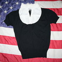 Rampage Black Sweater Top Size Large Shirt Blouse Cover Fashion Dressy 1532 Photo