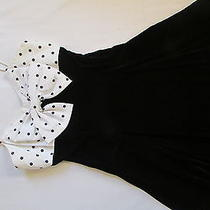 Rampage Black Velvet and Polka-Dot Dress Photo
