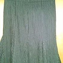 Rampage Black White Pinstripe Fluted Skirt Sz 7 Photo