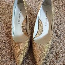 Rampage Champagne/gold Colored Heels Size 6.5m Photo