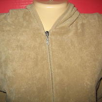 Rampage Clothing Company - Tan Zipper Front Terry Cloth  Hoodie - M  Photo