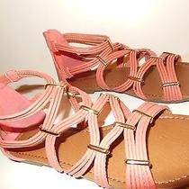 Rampage Clover Blush Flat Sandals 8.5 M Pinks Strappy New Photo