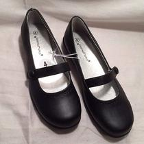 Rampage  Girls  Mary Jane Black Flats  Size 4  Nwot Photo
