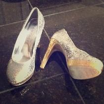 Rampage Gold and Silver Heels Photo