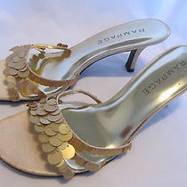 Rampage Gold Sequins High Heel Flamenco Wedding Sandal Shoes 9.5  See Hot Items Photo