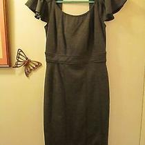 Rampage - Gray Scoop Neck Knit Pencil Dress - Size M Runs Small - S/sleeves  Photo