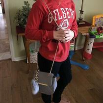 Rampage Grey Purse With Gold Chain Photo