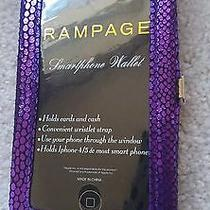 Rampage Iphone Wallet/wristlet Shiny Purple Croc Print - Nwt  Photo
