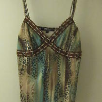 Rampage Juniors Womens Camisole With Stone Beading Embellised Medium Free Ship  Photo