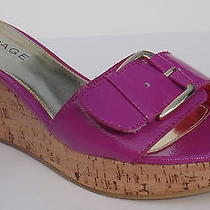 Rampage Ladies Women's Platform Wedge Sandals Mules Slides Bright Colors Choice Photo