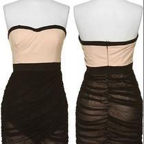 Rampage Macys Strapless Dress With Black Drape Mesh  Photo