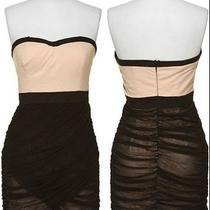 Rampage Macys Strapless Dress With Black Drape Mesh  Photo
