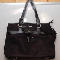 Rampage Microfiber Laptop Brief Tote Handbag Black 13