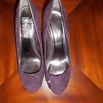Rampage New Deep Purple Suede Like Pumps Size 8 Photo