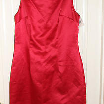 Rampage Nwt Short Little Red Dress Club Evening Back Zipper Shiny Red Size 7 Photo