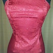 Rampage Petite Red Dresssize 3 Polyester Spandexred Beaded Long 50 Inches Photo