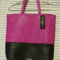 Rampage Purple Colorblock Shopper Purse Tote Handbag Extra Large Nwt Msrp 68 Photo