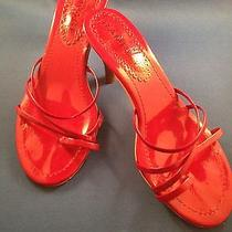 Rampage Red Women Strappy Sandals Slide Open Toe 3