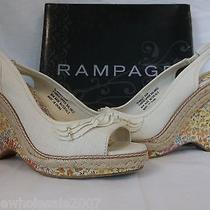 Rampage Size 8.5 M Blanket Natural Open Toe Wedges New Womens Shoes Photo