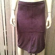 Rampage Stretch Ultrasuede Fitted Pencil Skirt Purple Sz 1 Xs S  Photo
