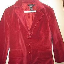Rampage Velvet Jacket - Size Medium - Color Maroon - Free Shipping Photo